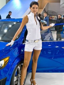 Girls of Moscow International Automobile Show