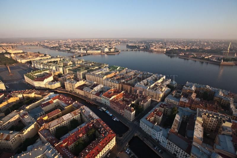 St. Petersburg from the Sky