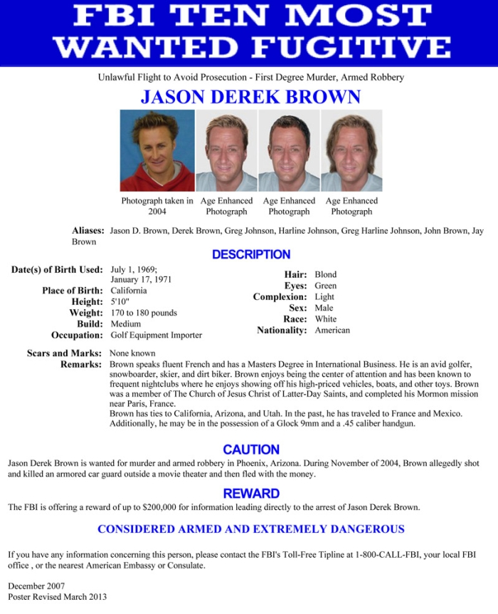 FBI Ten Most Wanted Fugitives