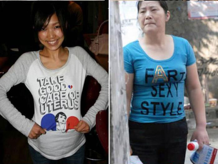 English T-Shirts In Asia