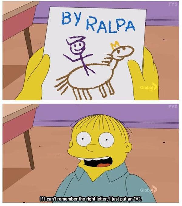 Tribute to Ralph Wiggum