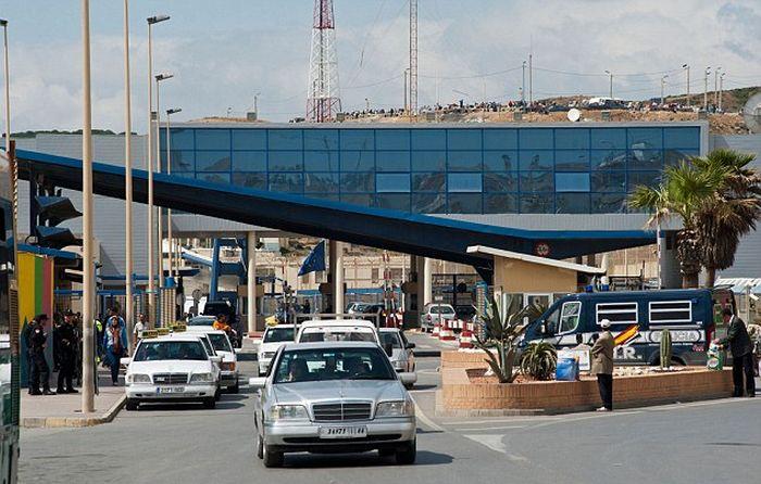 Desperate Migrants Crossing The Border