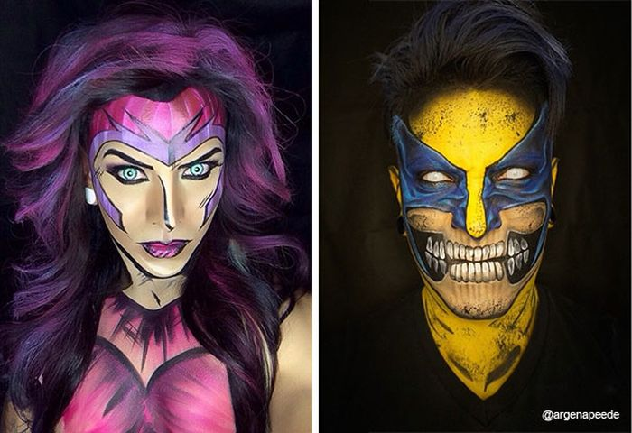 Makeup Artist Turns Himself Into Superheroes