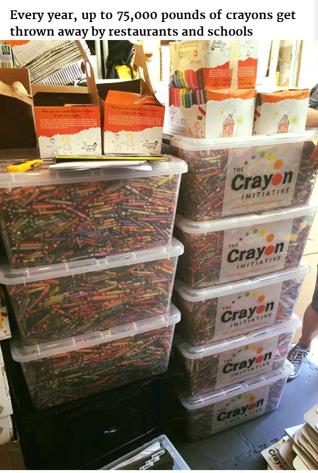 Bryan Ware Knows How To Reuse Leftover Crayons From Restaurants And Schools