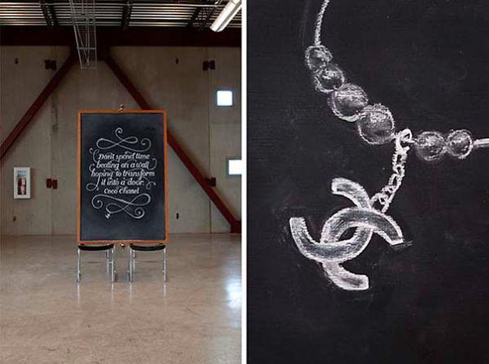 Smart Chalkboard Graffiti Prank