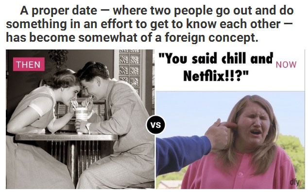 Dating Then And Now