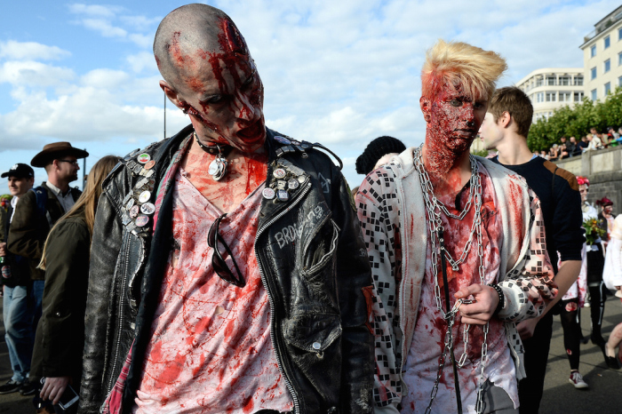Zombie Parade in Duesseldorf, Germany