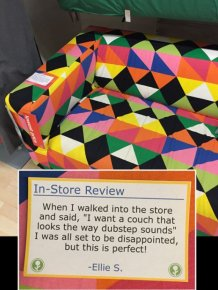 Guy Trolls IKEA By Putting Fake In-Store Reviews All Over The Place