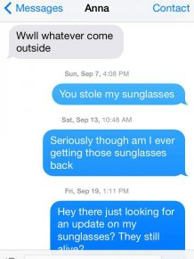 This Guy Wants His Sunglasses Back Really Bad