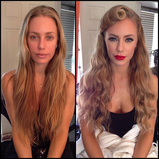 Girls With And Without Makeup, part 5