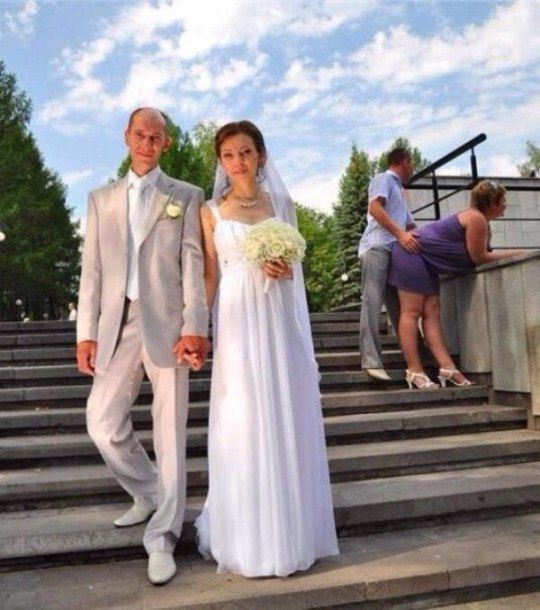 Awkward Russian Wedding Photos