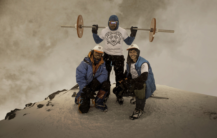 Man Conquers Mount Elbrus While Carrying A 75 Pound Barbell