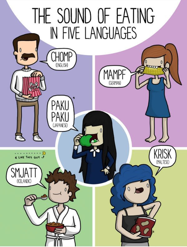 Everyday Sounds In 5 Different Languages