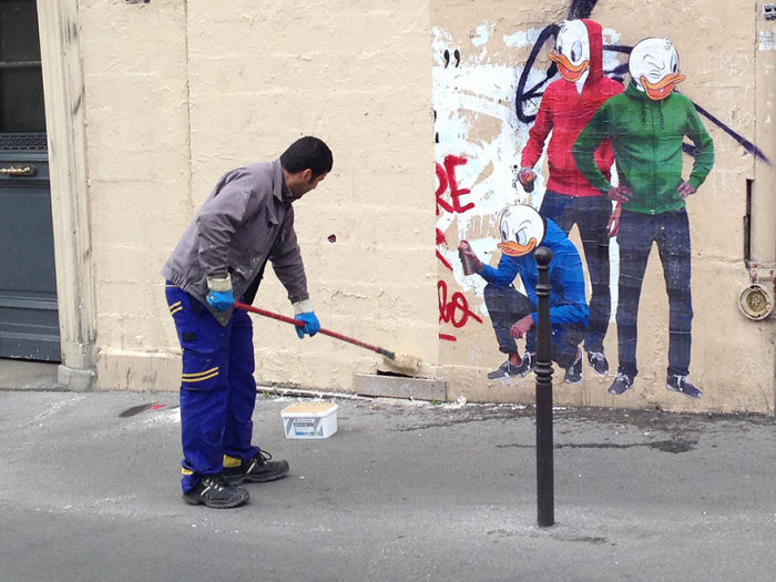 Street Cleaner From Paris Gets Turned Into Street Art