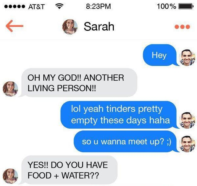 This Guy On Tinder Had No Idea He Was In The Middle Of A Zombie Apocalypse