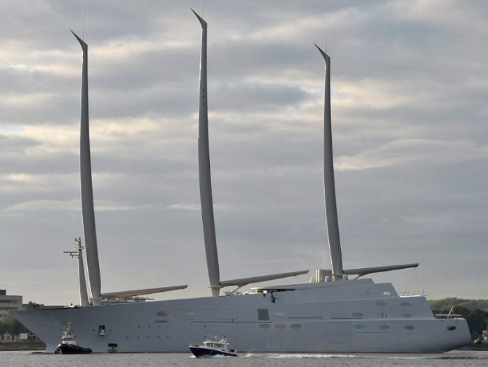 Russian Billionaire Unveils Massive 300 Foot Tall Yacht With 8 Floors