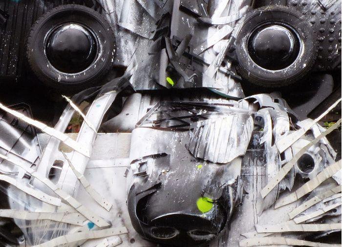 Big Raccoon Gets Turned Into 3D Street Art
