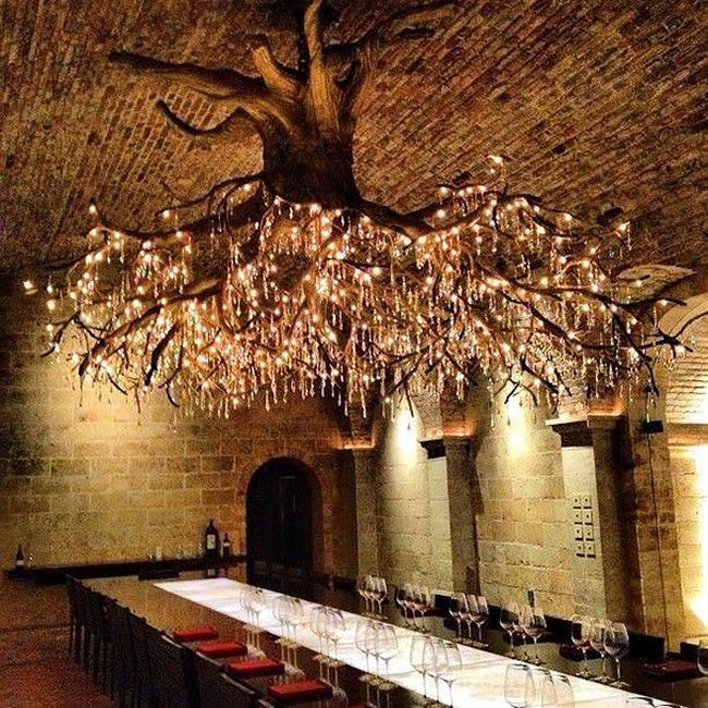 The Kathryn Hall Vineyard Is Home To An Amazing Tree Chandelier