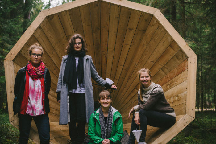 These Estonian Students Built Giant Wooden Megaphones, Find Out Why