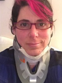 Woman Creates Steampunk Style Cervical Collar