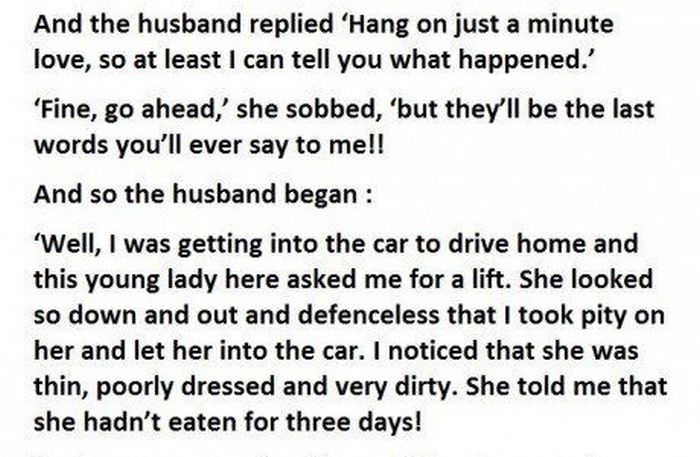 Cheating Husband Has A Hilarious Response For His Furious Wife