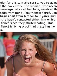 Fiance's Ex-Girlfriend Was Just Minding Her Business When This Happened