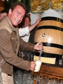 Arnold Schwarzenegger Celebrates Oktoberfest With Girlfriend Heather Milligan