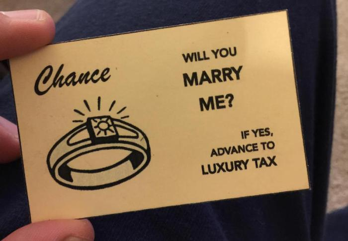 Man Uses Handmade Monopoly Board To Propose To His Girlfriend