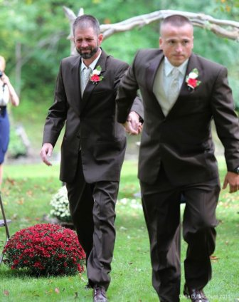 Father Of The Bride Allows Stepdad To Walk With Them Down The Aisle
