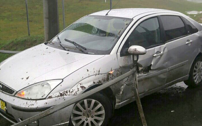 Driver Survives After Quick Brush With Death