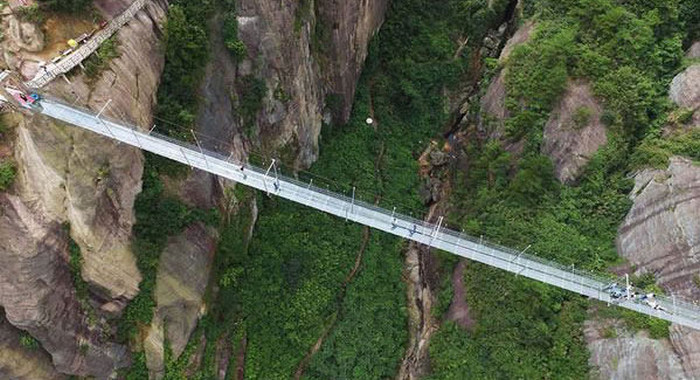 China Is Home To The World's Longest Glass Bridge And It's Insane