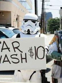 Hot Girls Washing Cars In Costume Is A Dream Come True For Star Wars Fans