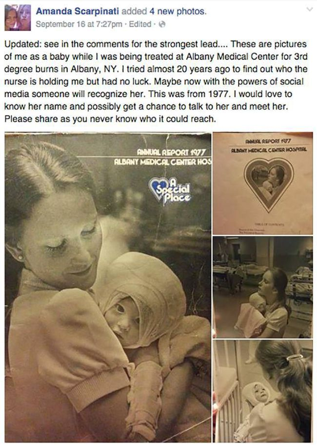 Social Media Reconnects Woman With Nurse Who Cared For Her As A Child