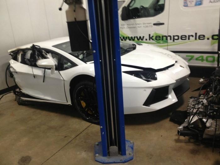 Lamborghini Aventador Gets Cut In Half