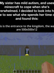 Girl With Autism Creates Incredible Kingdom In Minecraft