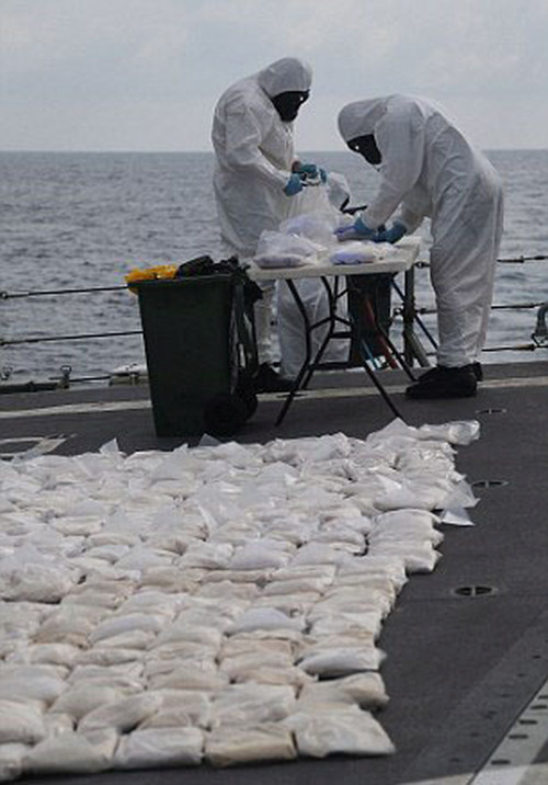 427 Kilograms Of Heroin Destroyed By Australian Navy Ship