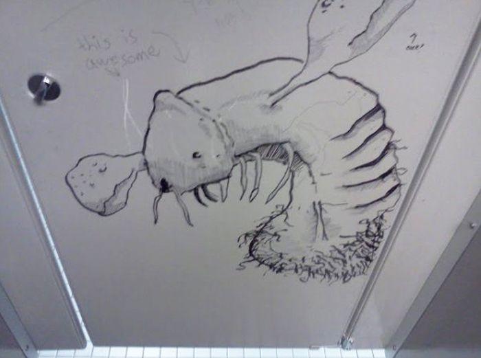 Bathroom Graffiti Masterpieces That Are True Works Of Art