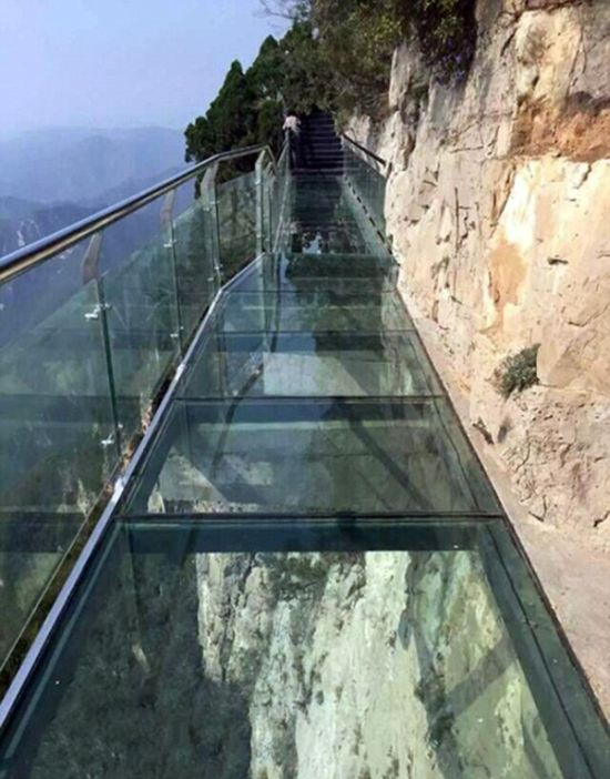 Glass Walkway In China Terrifies Tourists As It Cracks Beneath Their Feet