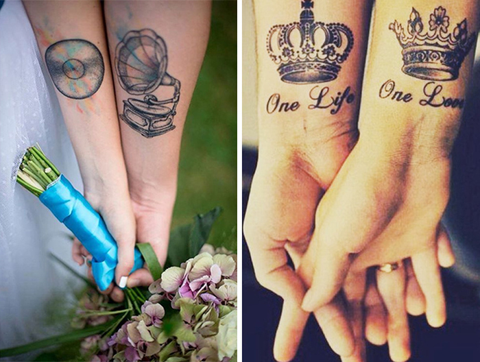 These Brave Couples Decided To Ditch The Wedding Rings And Get Tattoos Instead