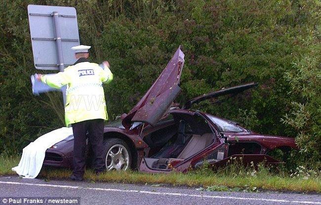 Mr. Bean crashed his McLaren F1