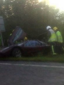 Mr. Bean crashed his McLaren F1