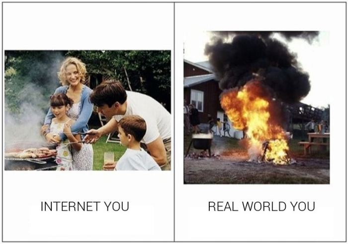 How You Act On The Internet Compared To How You Act In Real Life