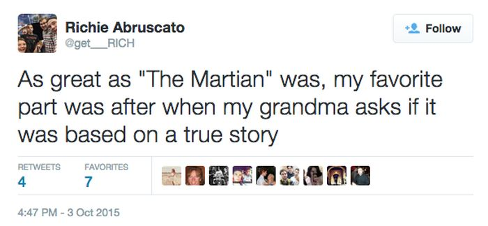 It's Scary How So Many People Think 'The Martian' Is Based On A True Story