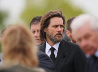 Jim Carrey Attends Late Girlfriend Cathriona White's Funeral