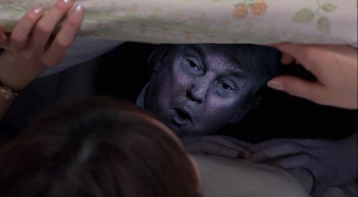 Donald Trump In Famous Horror Movie Scenes Is The Scariest ...