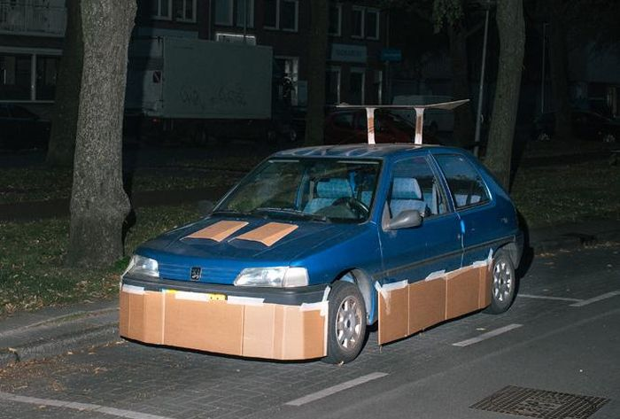 One Man Is Pimping Out People's Cars With Cardboard