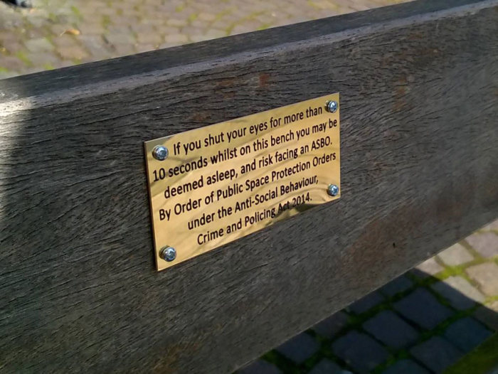 Pranksters Are Putting Hilarious Signs On Park Benches In England