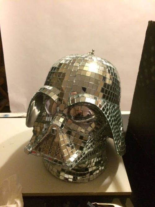 It Turns Out That Darth Vader's Helmet Makes An Awesome Disco Ball