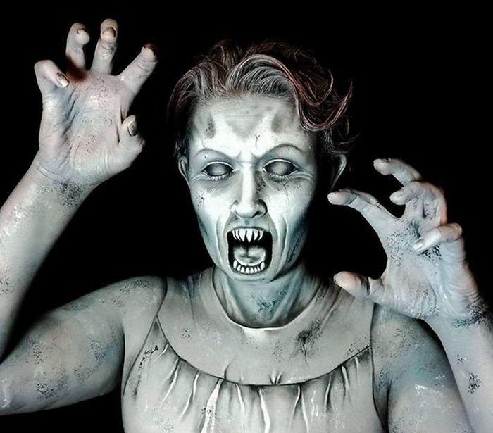 Artist Uses Makeup To Create Creepy Monsters For Halloween Art