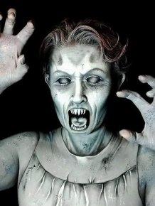 Artist Uses Makeup To Create Creepy Monsters For Halloween